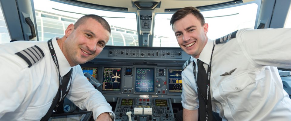 Envoy Captains in the cockpit
